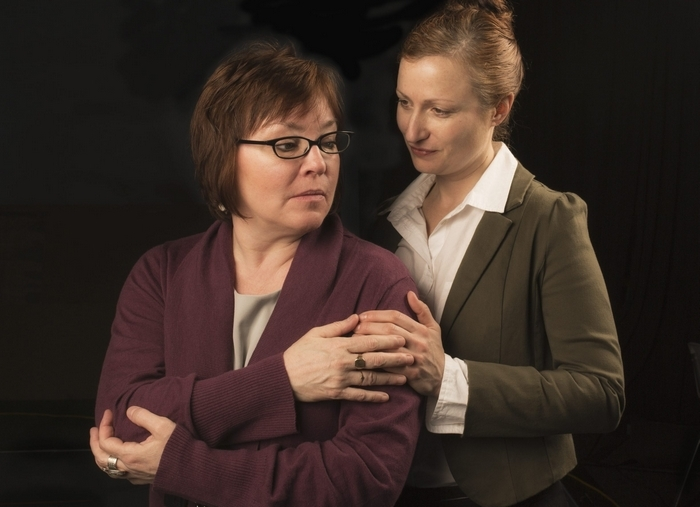 "Eileen Dugan and Kristen Tripp Kelley star in Jewish Repertory Theatre's production of ""Body Awareness,"" opening tonight."