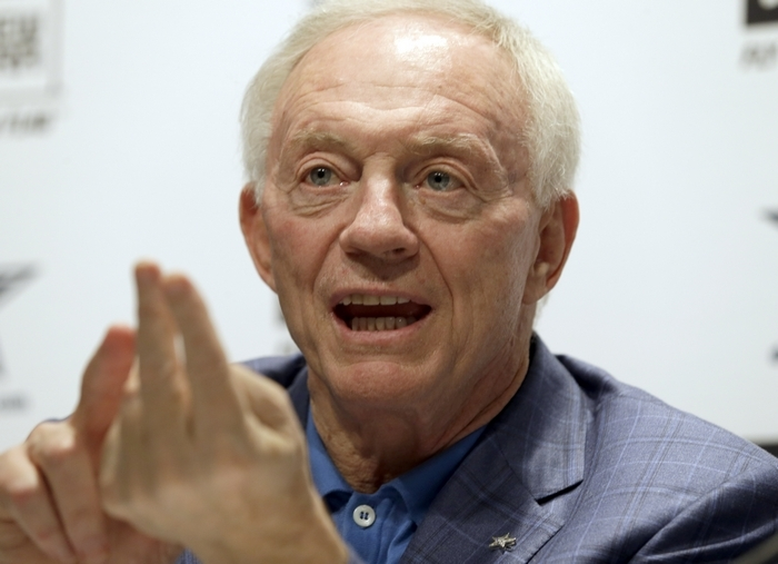 Dallas Cowboys owner and GM Jerry Jones may represent the biggest fears of Bills fans. (Associated Press)