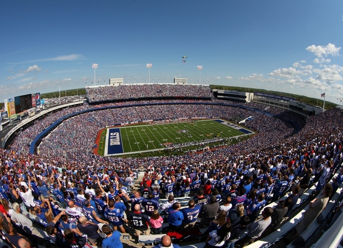 Top county officials want Ralph Wilson Stadium, or at least its county-owned footprint, to figure prominently in the discussions about the home of the Bills for years to come. (James P. McCoy/Buffalo News)