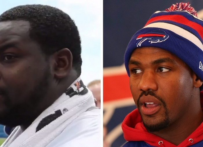 Sources have told The News that Jerry Hughes, right, is being investigated for drag racing teammate Marcell Dareus. (Buffalo News photos)