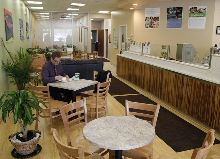 The menu at the Fresh Healthy Cafe is varied with lots of health-conscious choices. (Photos by John Hickey/Buffalo News)