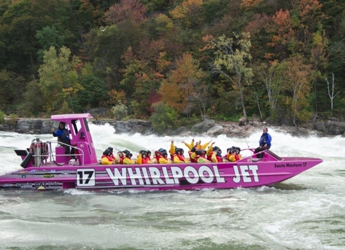 Whirlpool Jet offers rides on the Niagara River.