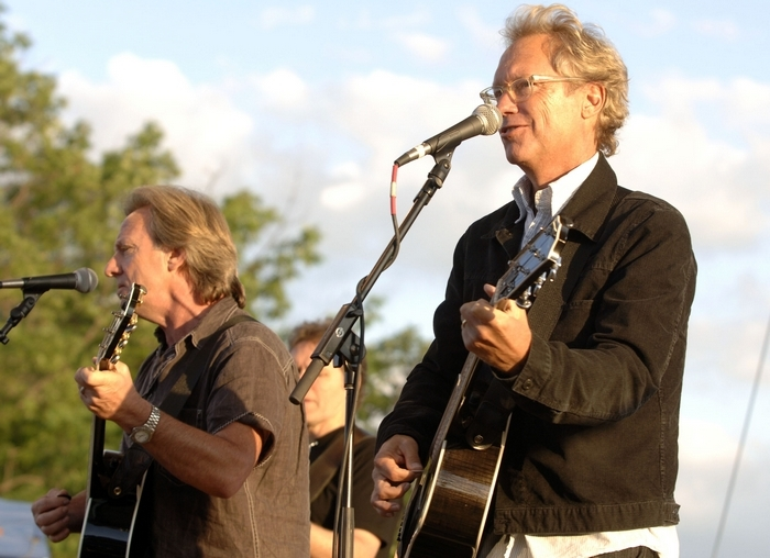 Dewey Bunnell, left, and Gerry Beckley of America will perform with the BPO on June 5. (Harry Scull Jr./Buffalo News)