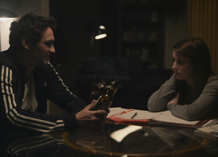 """Gia Coppola's new film, """"Palo Alto,"""" which stars James Franco and Emma Roberts, in an undated handout photo. Coppola makes her directorial debut with """"Palo Alto,"""" which she adapted from James Franco's short story collection of the same name. (Rabbit Bandini via The New York Times) — NO SALES; FOR EDITORIAL USE ONLY WITH STORY SLUGGED FILM COPPOLA ADV04 BY CARA BUCKLEY. ALL OTHER USE PROHIBITED. — PHOTO MOVED IN ADVANCE AND NOT FOR USE – ONLINE OR IN PRINT – BEFORE MAY 4, 2014."""