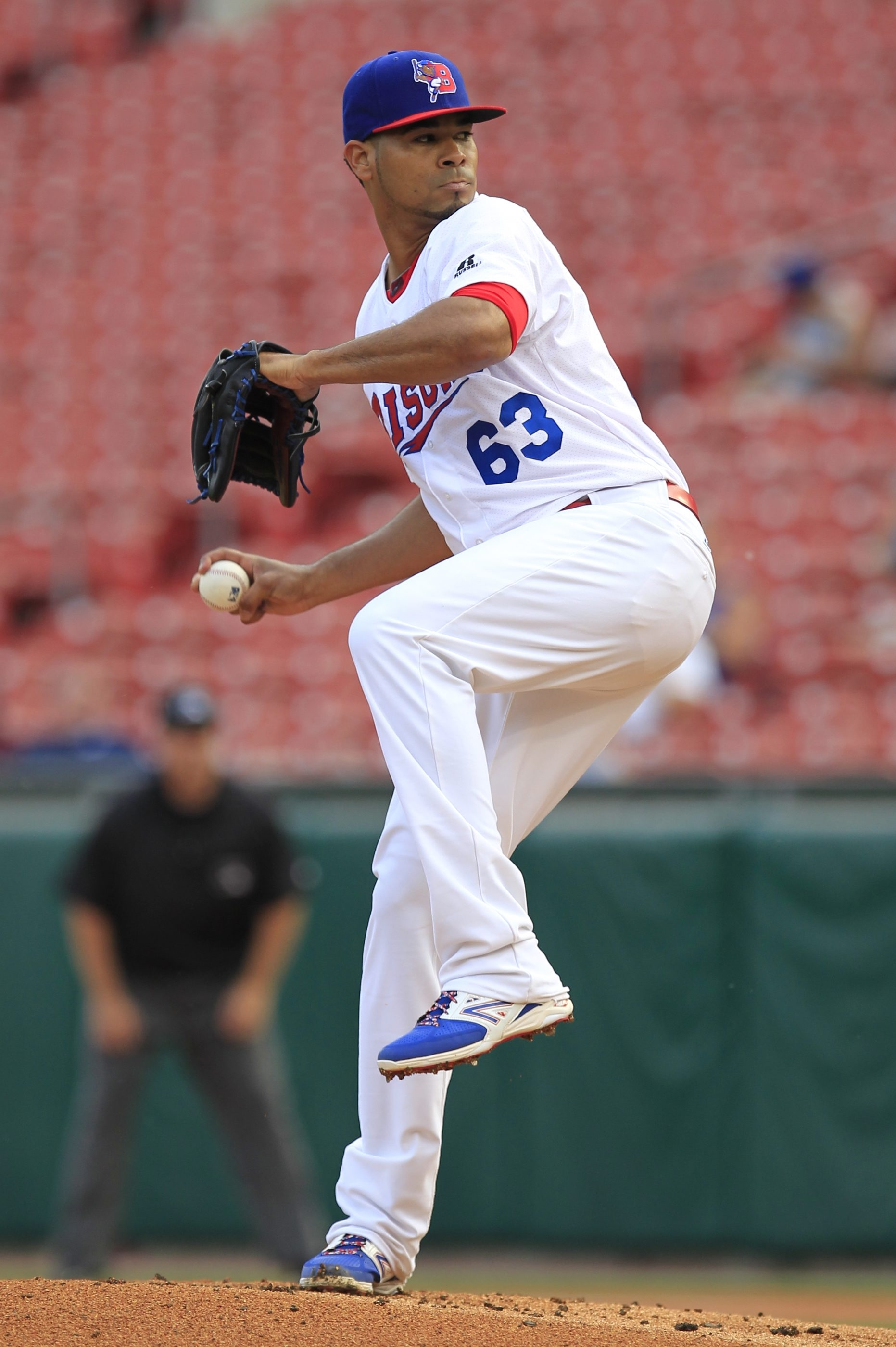 Bisons pitcher Esmil Rogers was solid in five innings of work on Monday night.