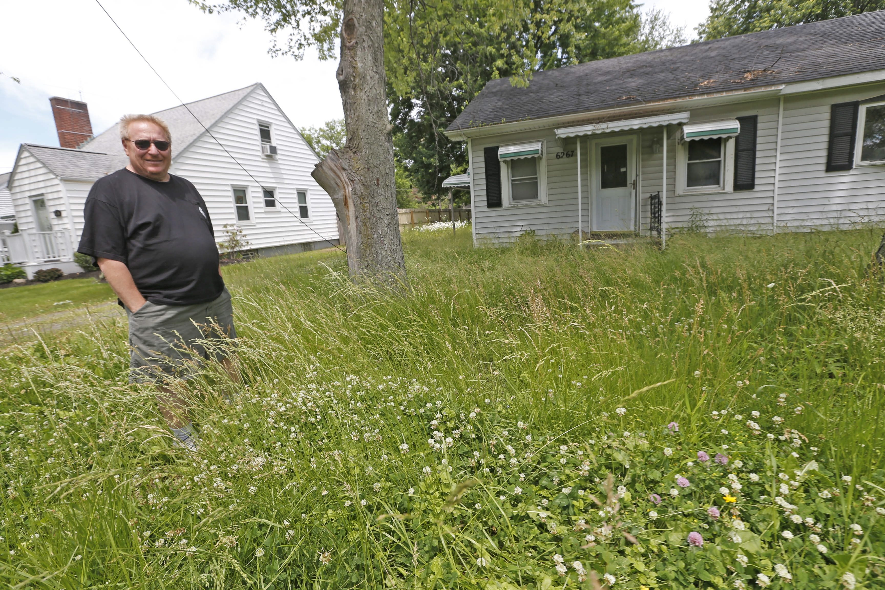 Anthony J. Southard has been complaining about the overgrown lot across the street from his Dorchester Road home.