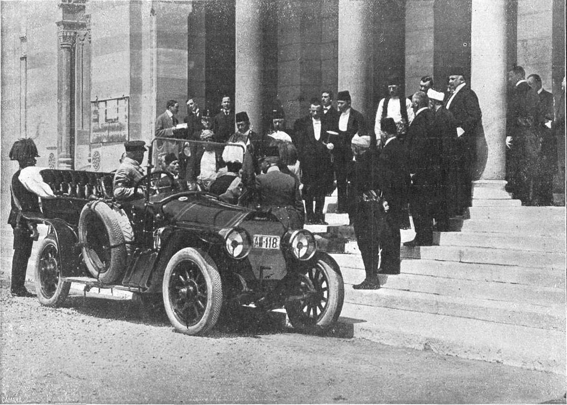 The Austrian archduke and his wife were greeted by public officials at the City Council of Sarajevo after the first attempt against their lives on the morning of June 28, 1914.