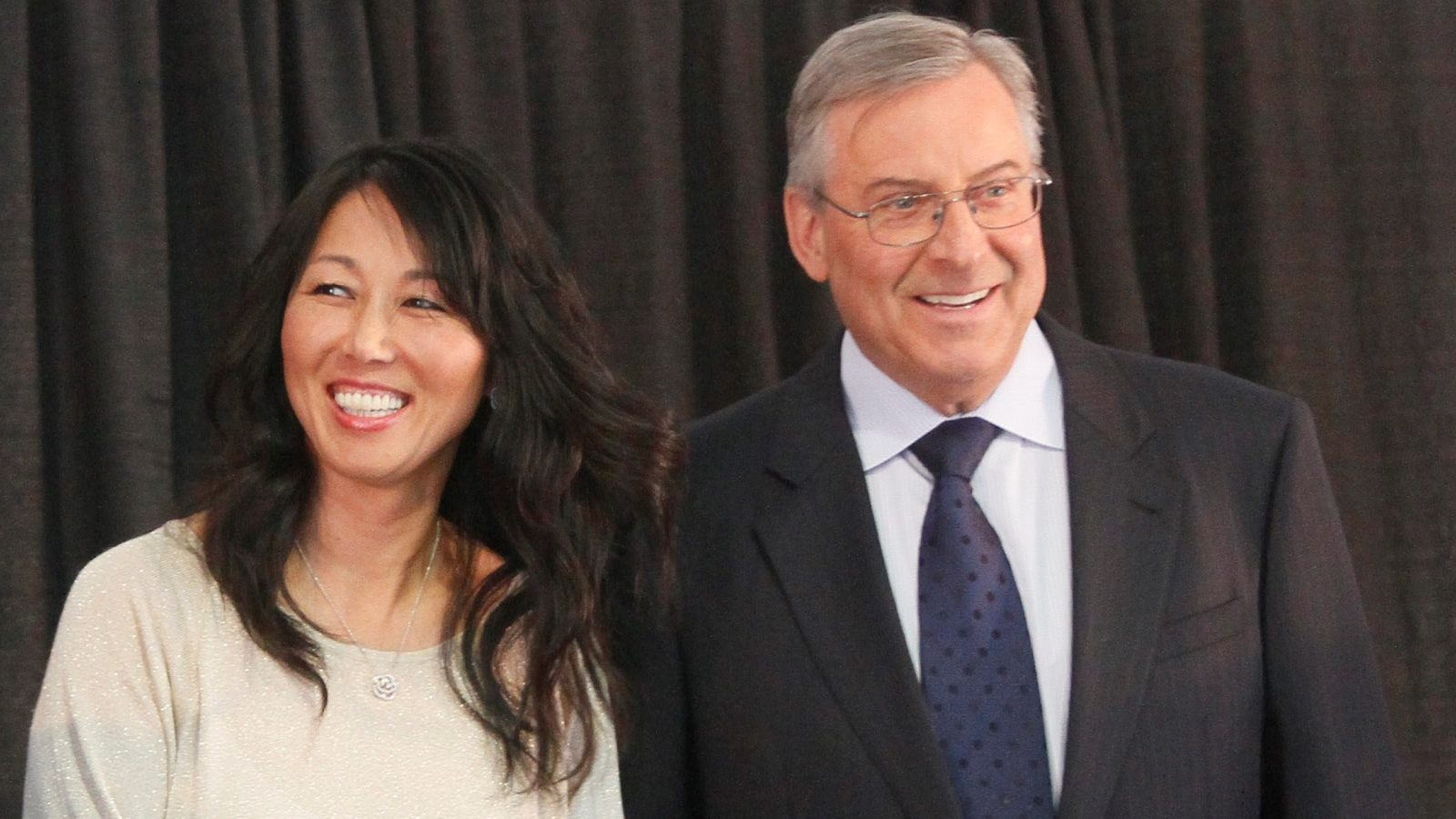 """Kim and Terry Pegula announce Friday they are """"following"""" the sale of the Buffalo Bills."""