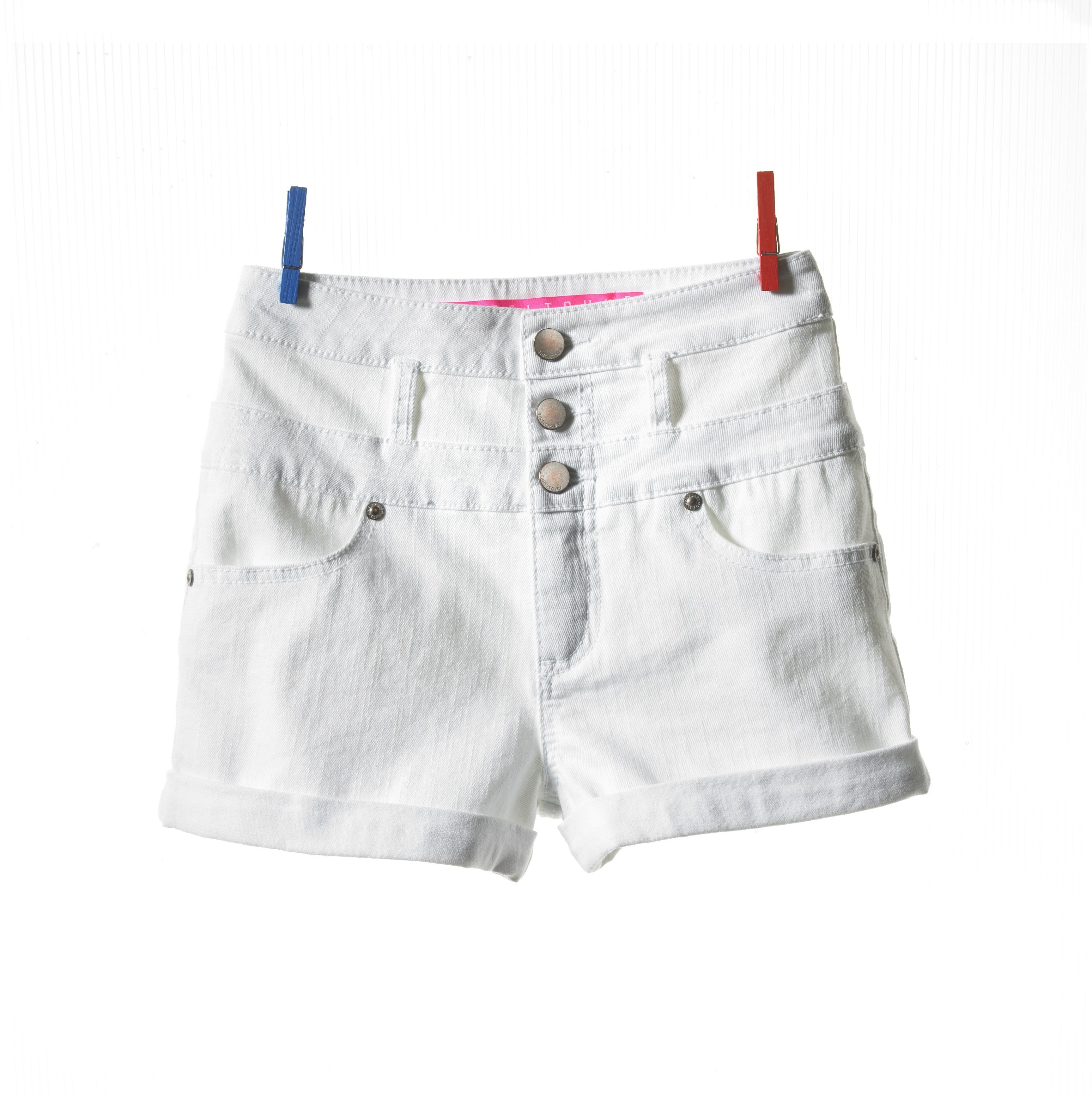 Tinseltown shorts ($25, macys.com). They might be white, but sturdy material and careful detailing make these shorts slimming. (Macy's/MCT)