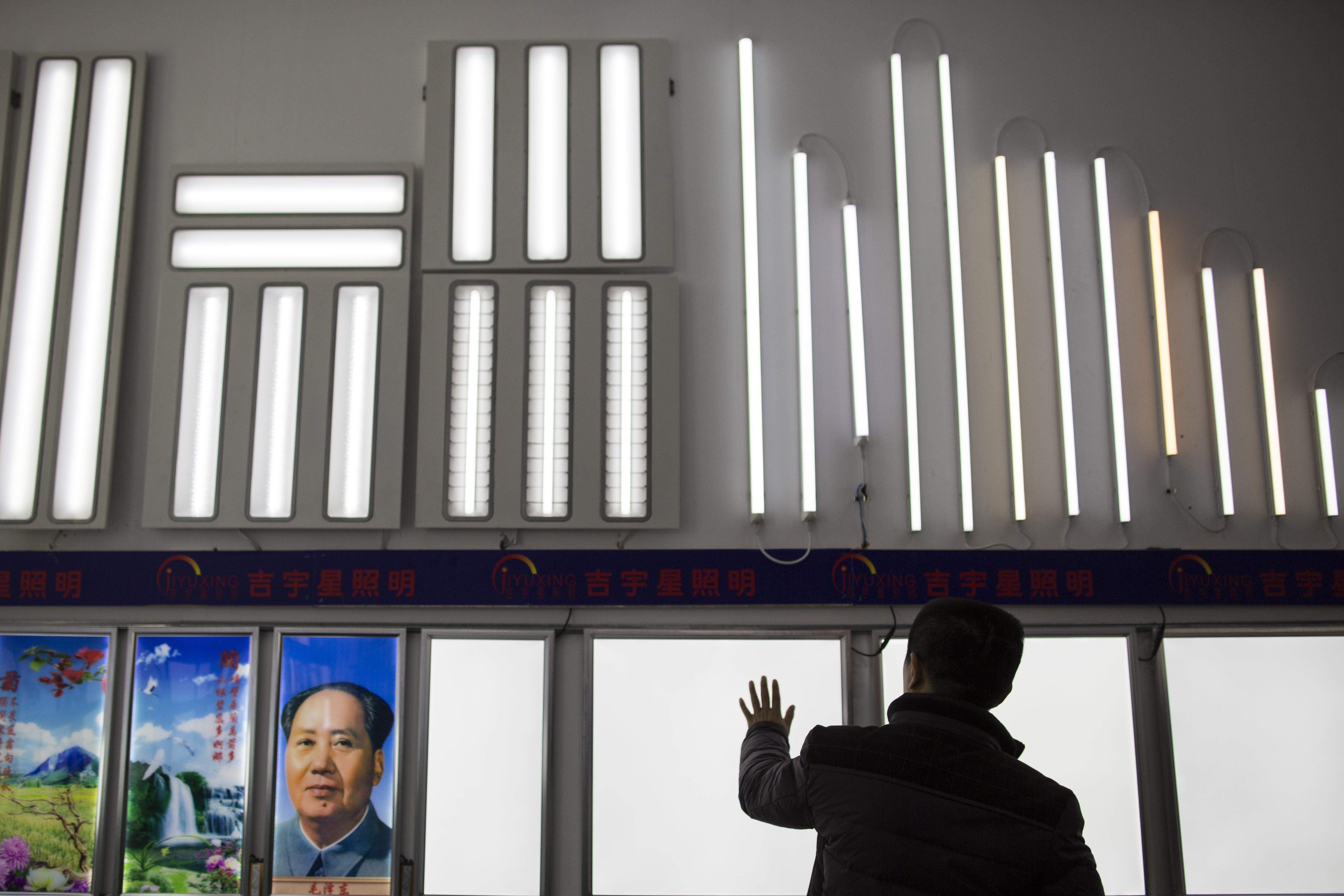 LED signs on display at Sign China 2014, a huge convention in Guangzhou, China. With a price war underway, Chinese LED manufacturers are taking market share from industry pioneers in the U.S., Europe and Japan.