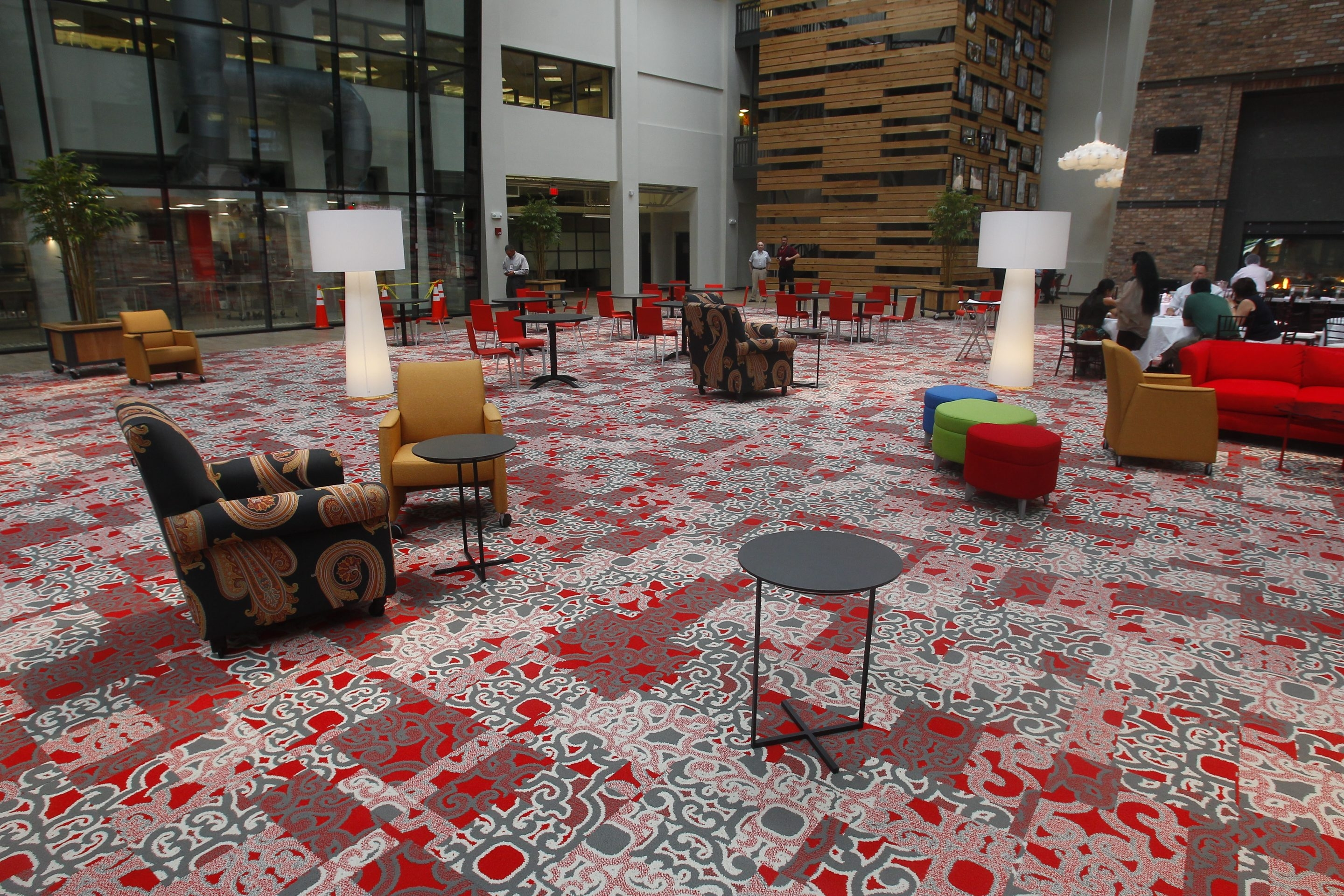"""The former Rich Renaissance Niagara atrium, now redesigned into the Atrium @ Rich's """"customer innovation center,"""" is part of the first phase of an $18.5 million modernization project by Rich Products Corp."""