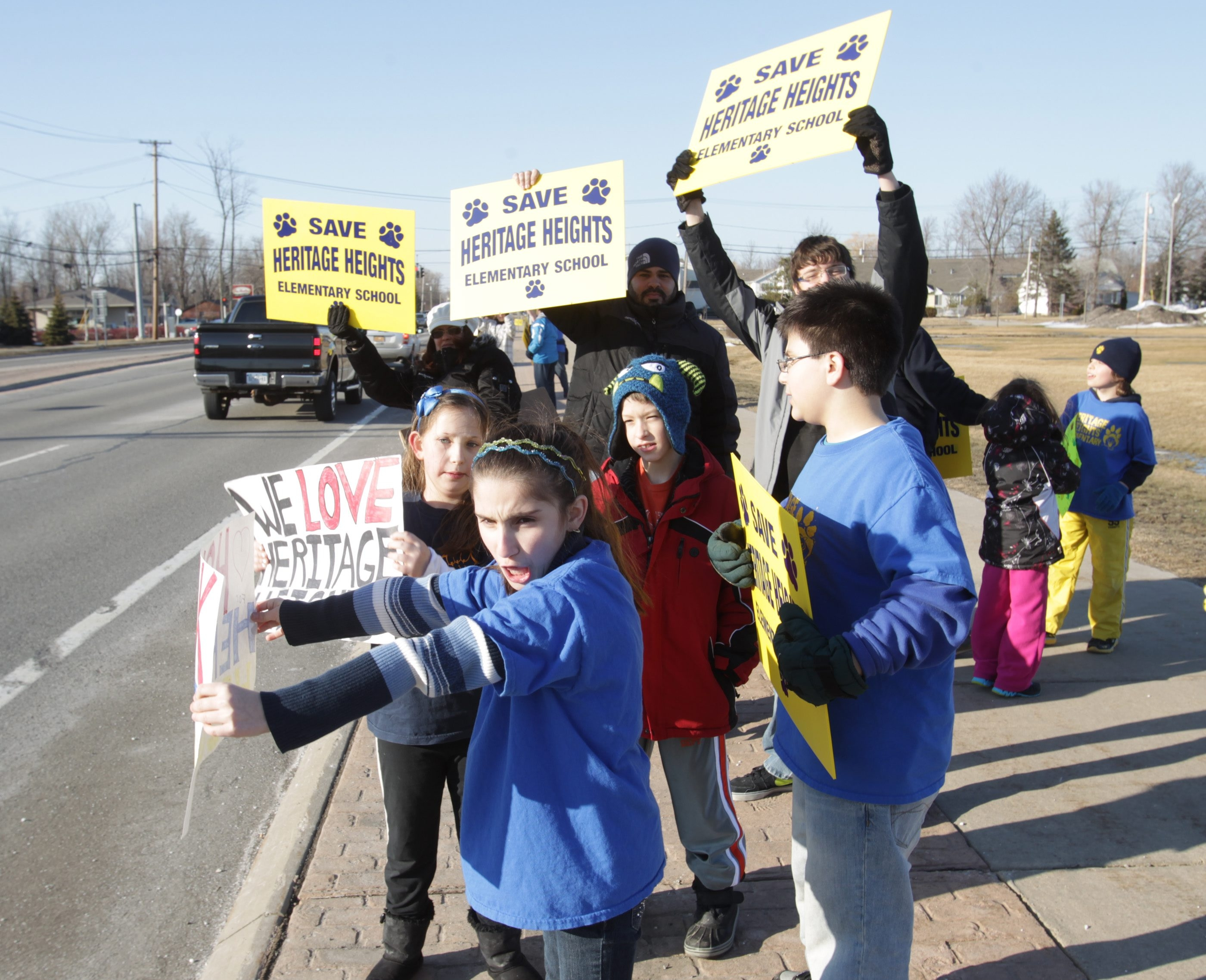 Some parents and students rallied back in March before the vote on whether to close Heritage Heights Elementary School in the Sweet Home school district.