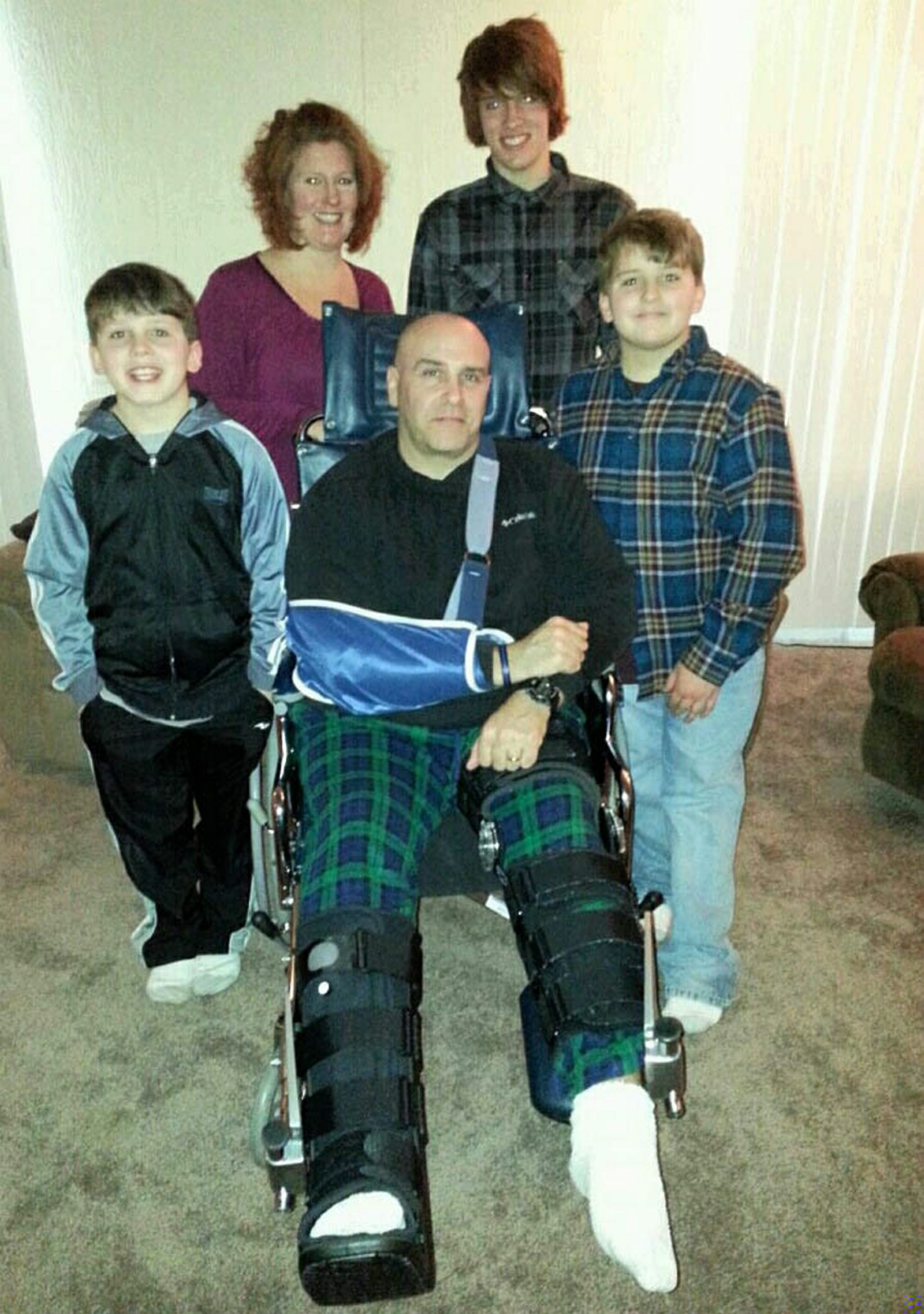 Mike McTiernan has used a wheelchair since the accident.