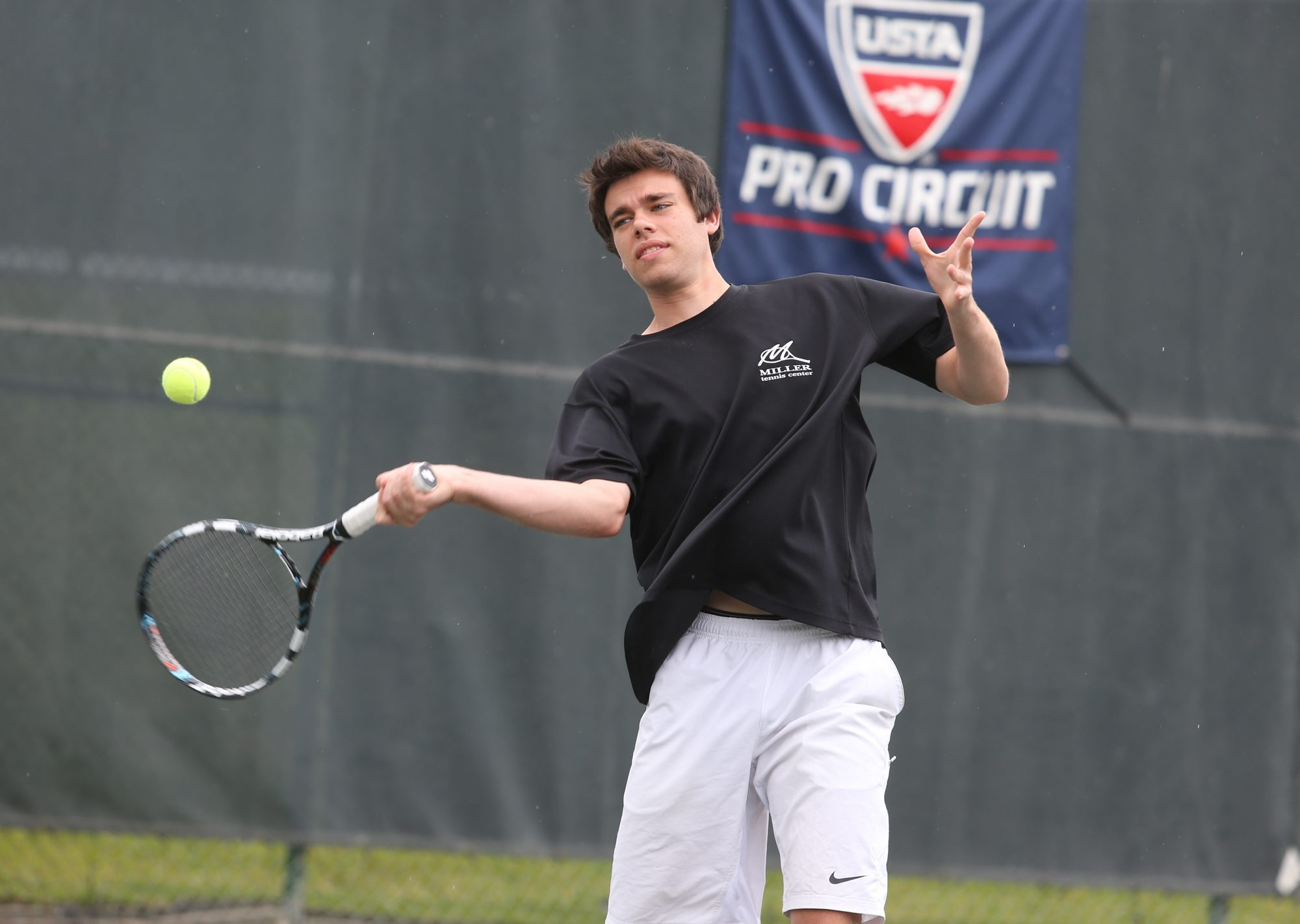 Tony Miller is a wild card singles entrant for the Sargent & Collins LLP Men's $10,000 Futures Tournament.