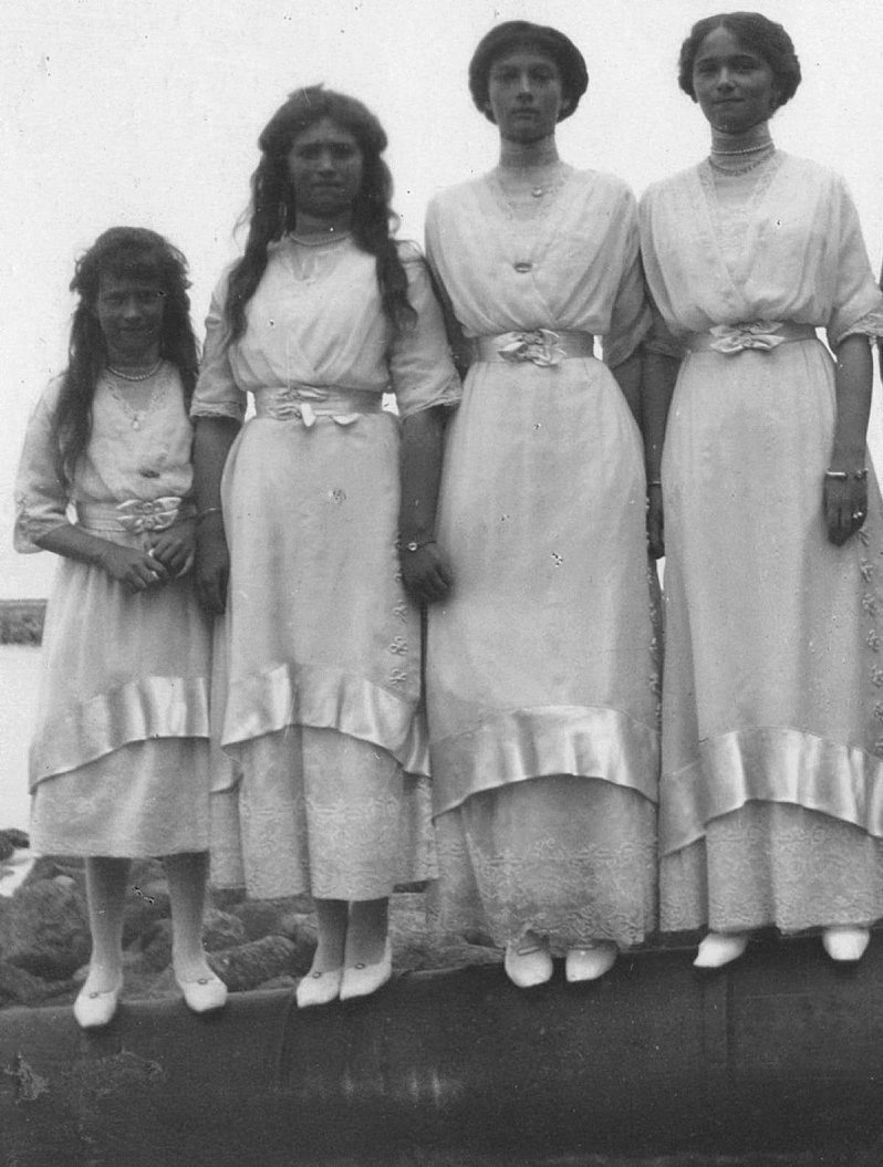 The daughters of Tsar Nicholas II and Alexandra were, from left, Antastasia, Maria, Tatiana and Olga. The girls, along with their parents and brother, were shot to death in 1918.