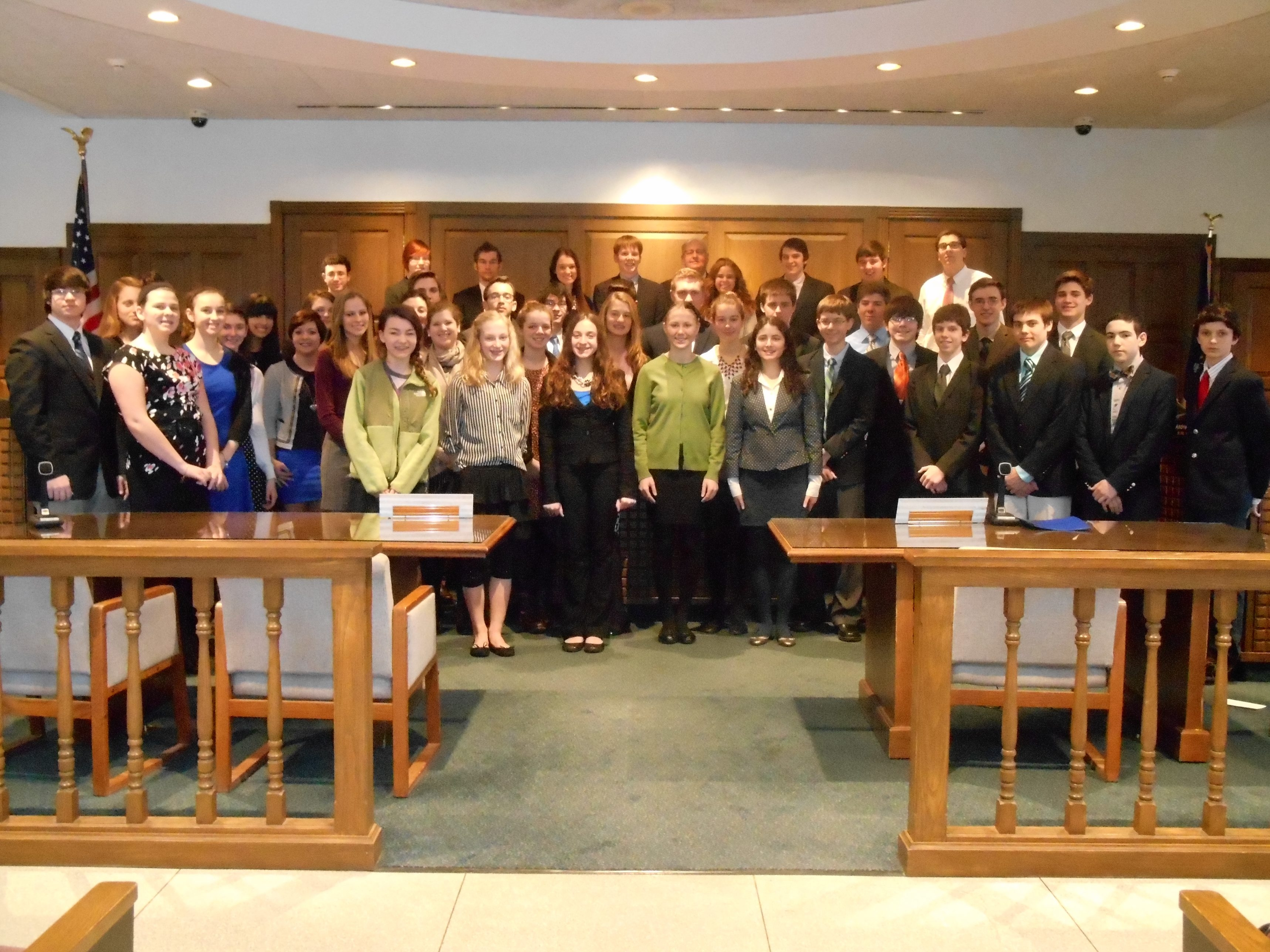 The new members of the Orchard Park Youth Court are sworn in.