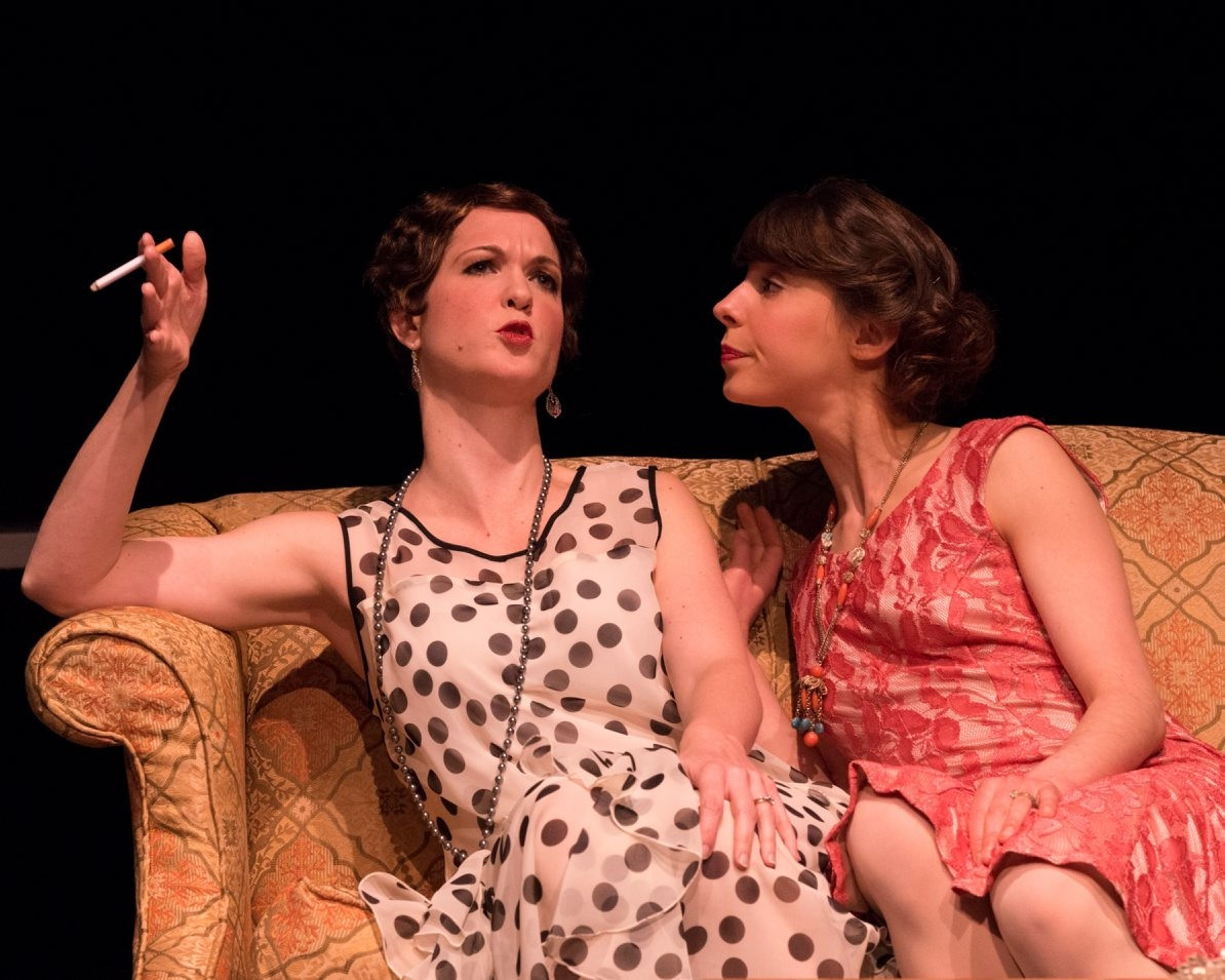"The Irish Classical Theatre Company's production of ""Fallen Angels"" is powered by the charm of actresses Diane Curley, left, and Bonnie Jean Taylor."