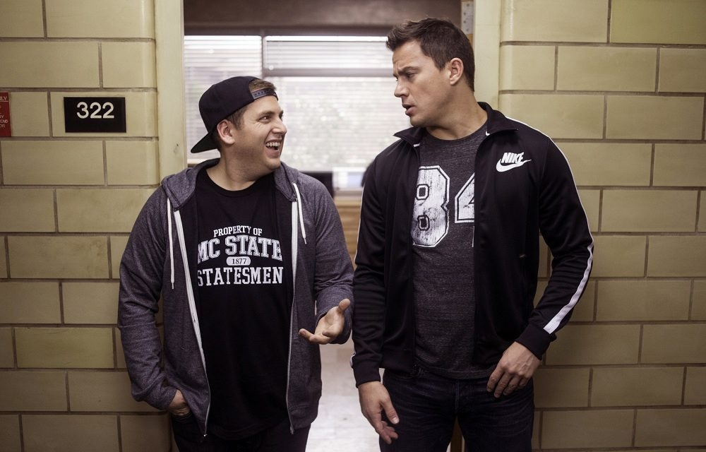 "This image released by Sony Pictures shows Jonah Hill, left, and Channing Tatum in Columbia Pictures' ""22 Jump Street."" (AP Photo/Sony Pictures, Glen Wilson)"