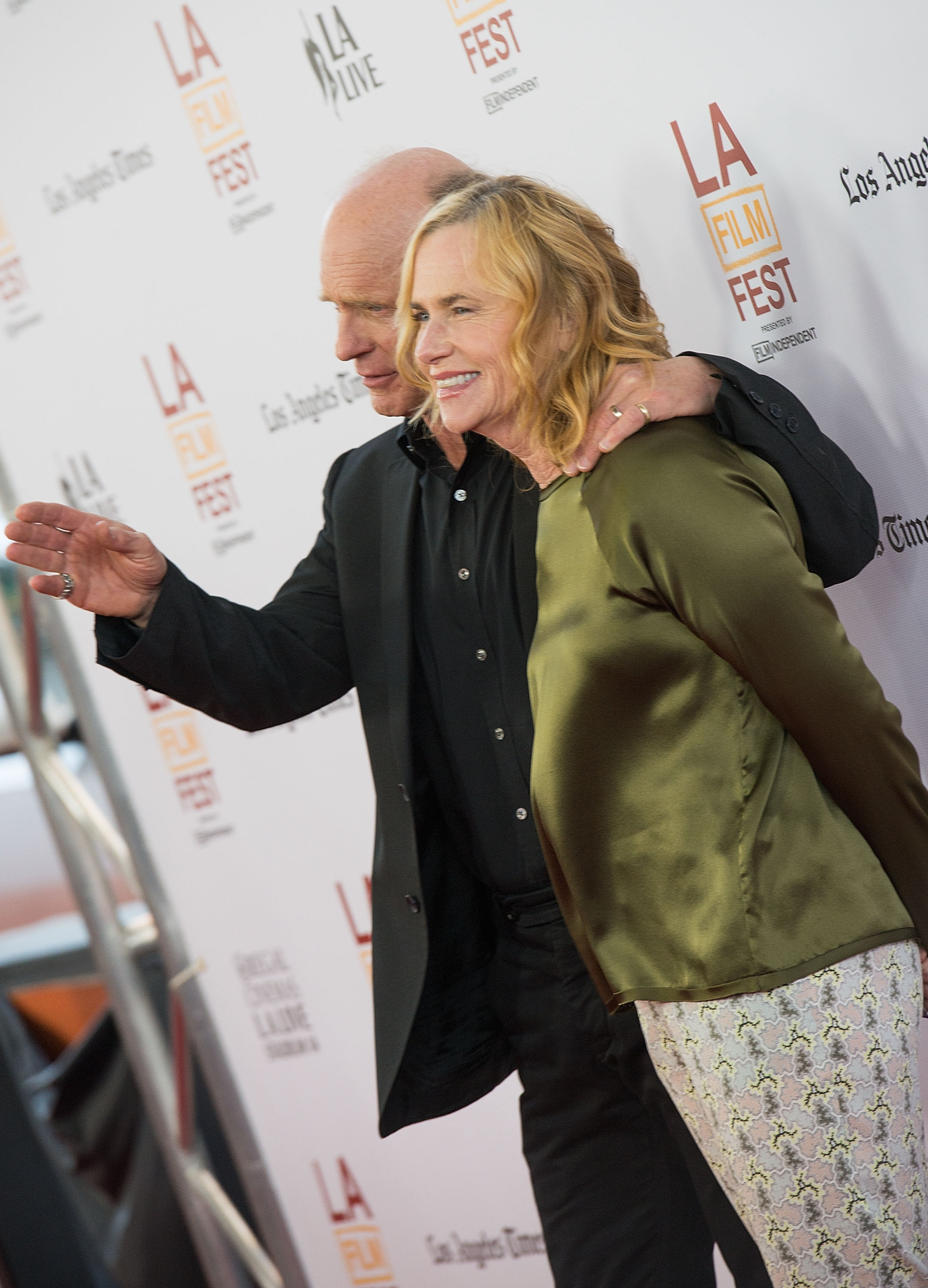 """Out on the town: Actors Ed Harris and Amy Madigan were seen at the Los Angeles Film Festival this week for the premiere of  the movie """"Snowpiercer."""""""