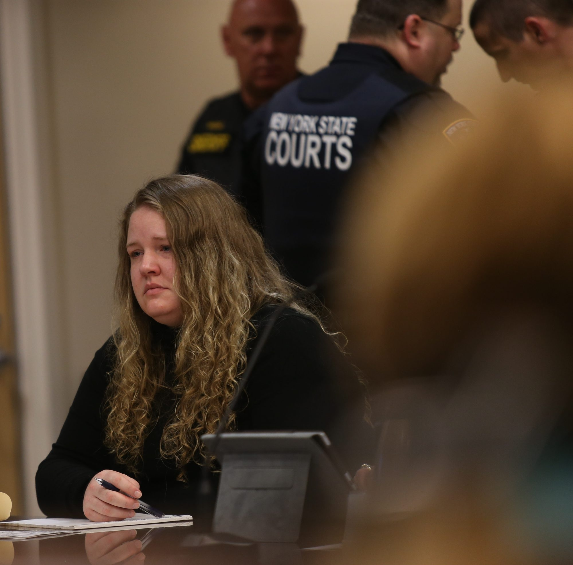 Candace J. Cartagena, in the Erie County Courthouse in Buffalo, Monday, June 9, 2014.  (Charles Lewis/Buffalo News)