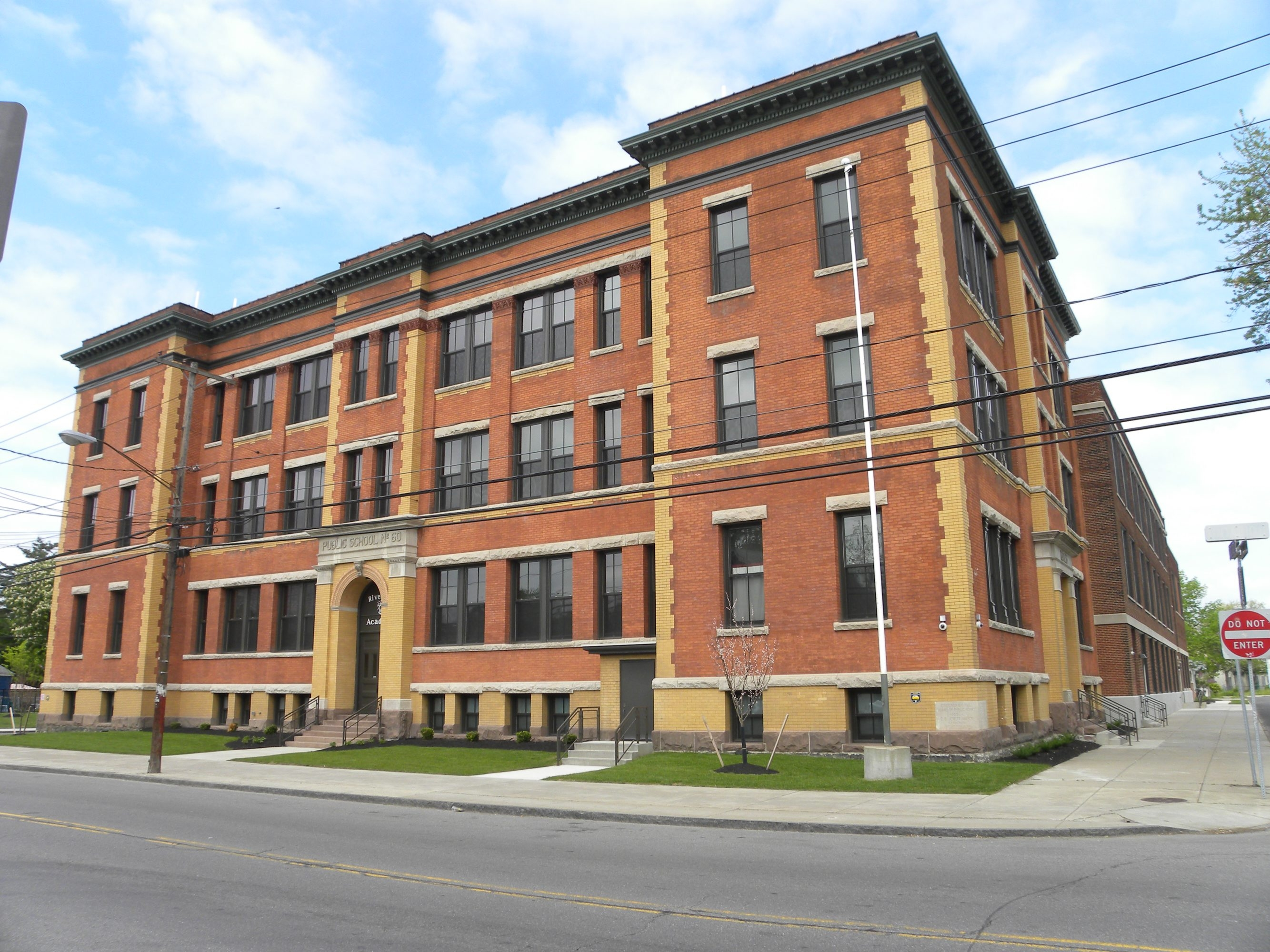 The former Buffalo School 60 in Buffalo's Riverside neighborhood has been converted into apartments.
