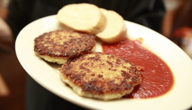 Hot pepper cakes appetizer at Mandy's Cafe on, Wednesday, June 6, 2012. {Photo by Harry Scull Jr. / Buffalo News}