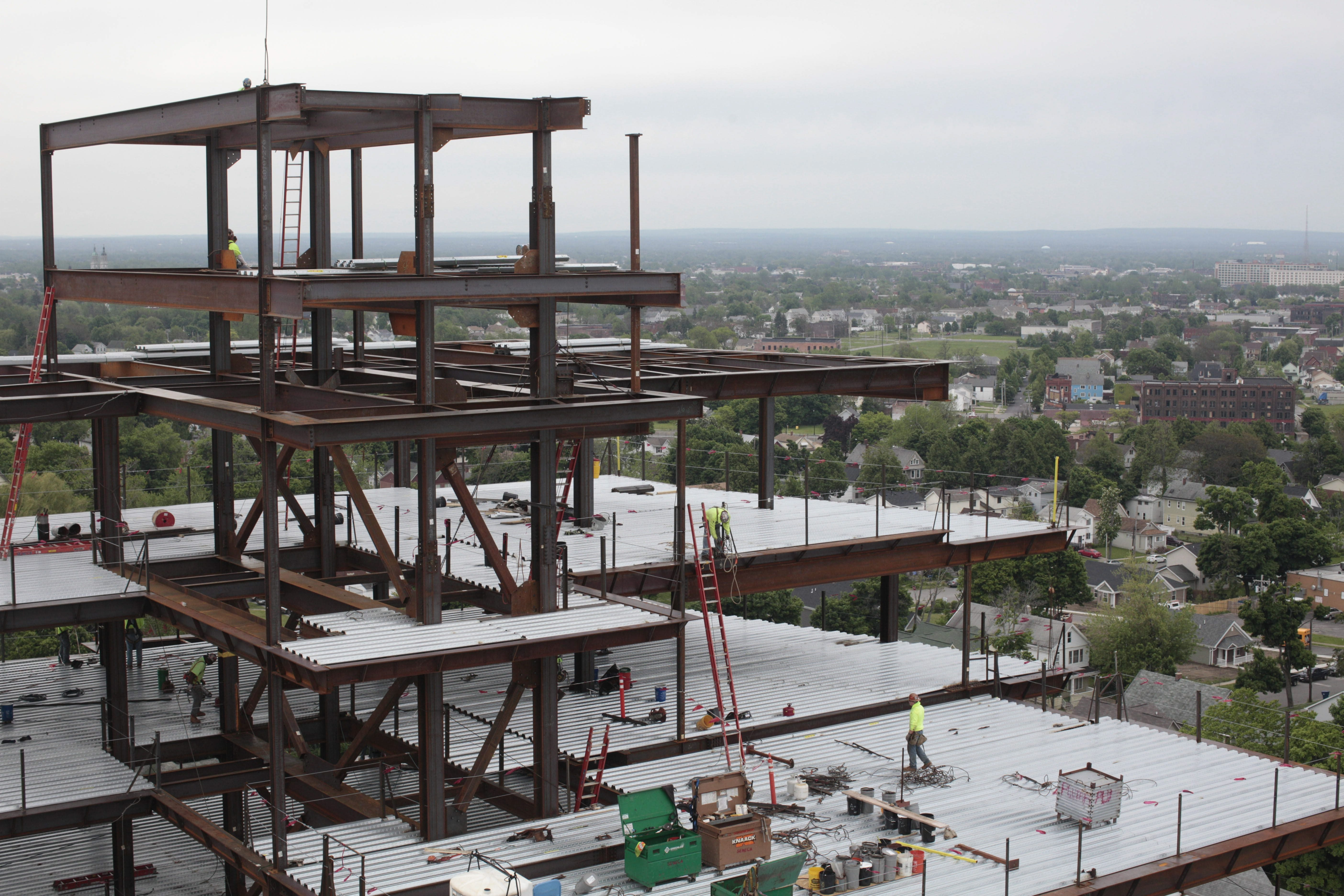 Construction of the new Roswell Park Clinical Sciences Center is part of Buffalo's resurgence, a development that will be encouraged by the wildly popular 43North business plan competition.