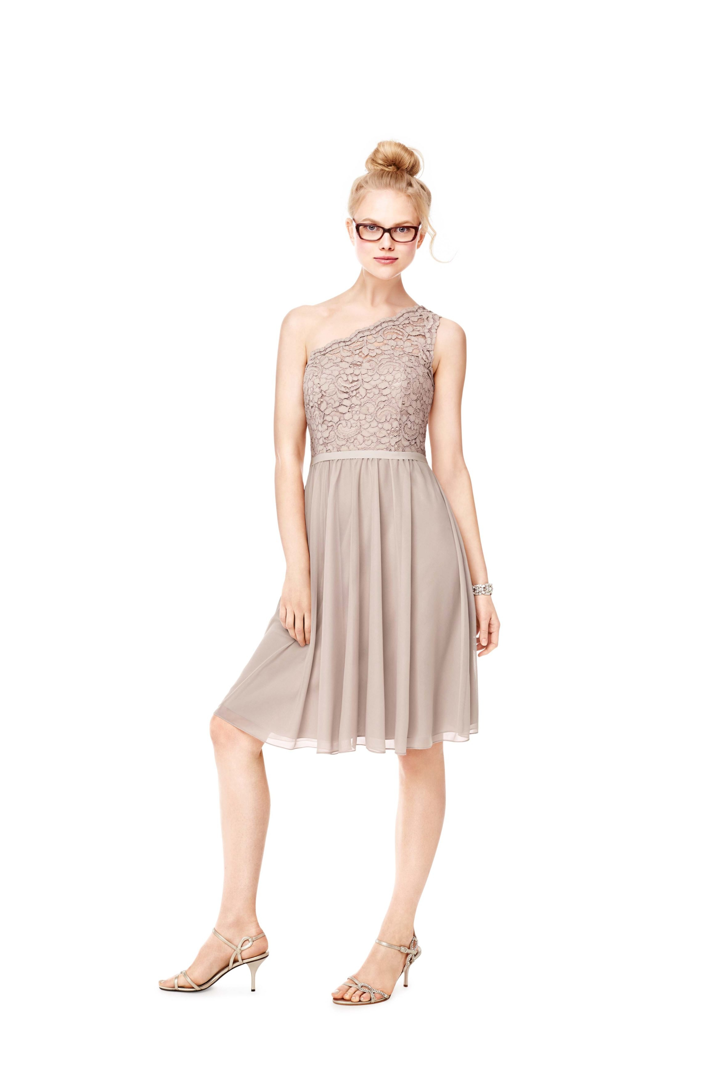 On trend: David's Bridal offers of-the-moment lace and other dress styles for bridesmaids.