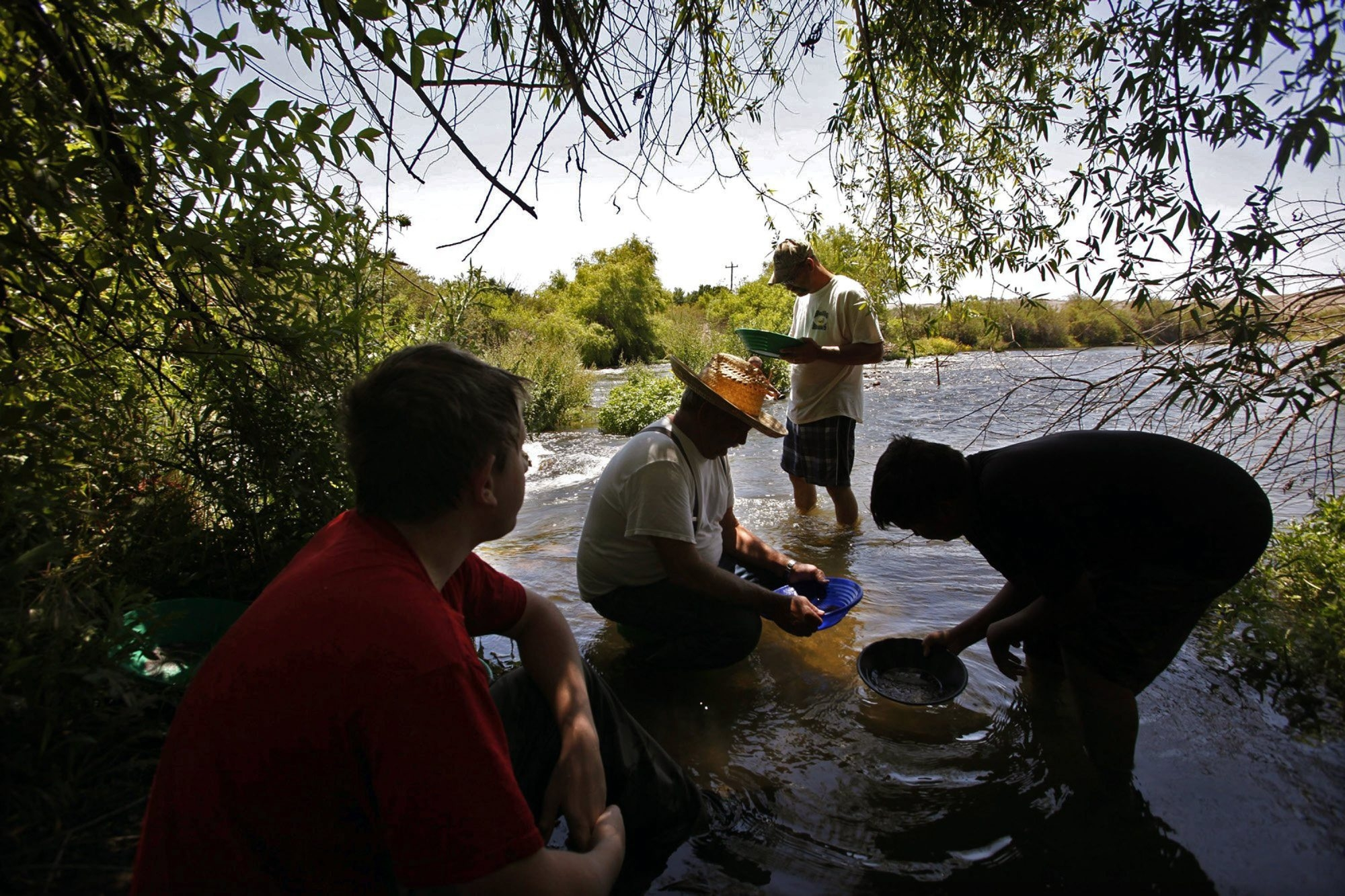 Drought conditions have lowered water levels in California and given prospectors the chance to pan for gold in areas previously not accessible.