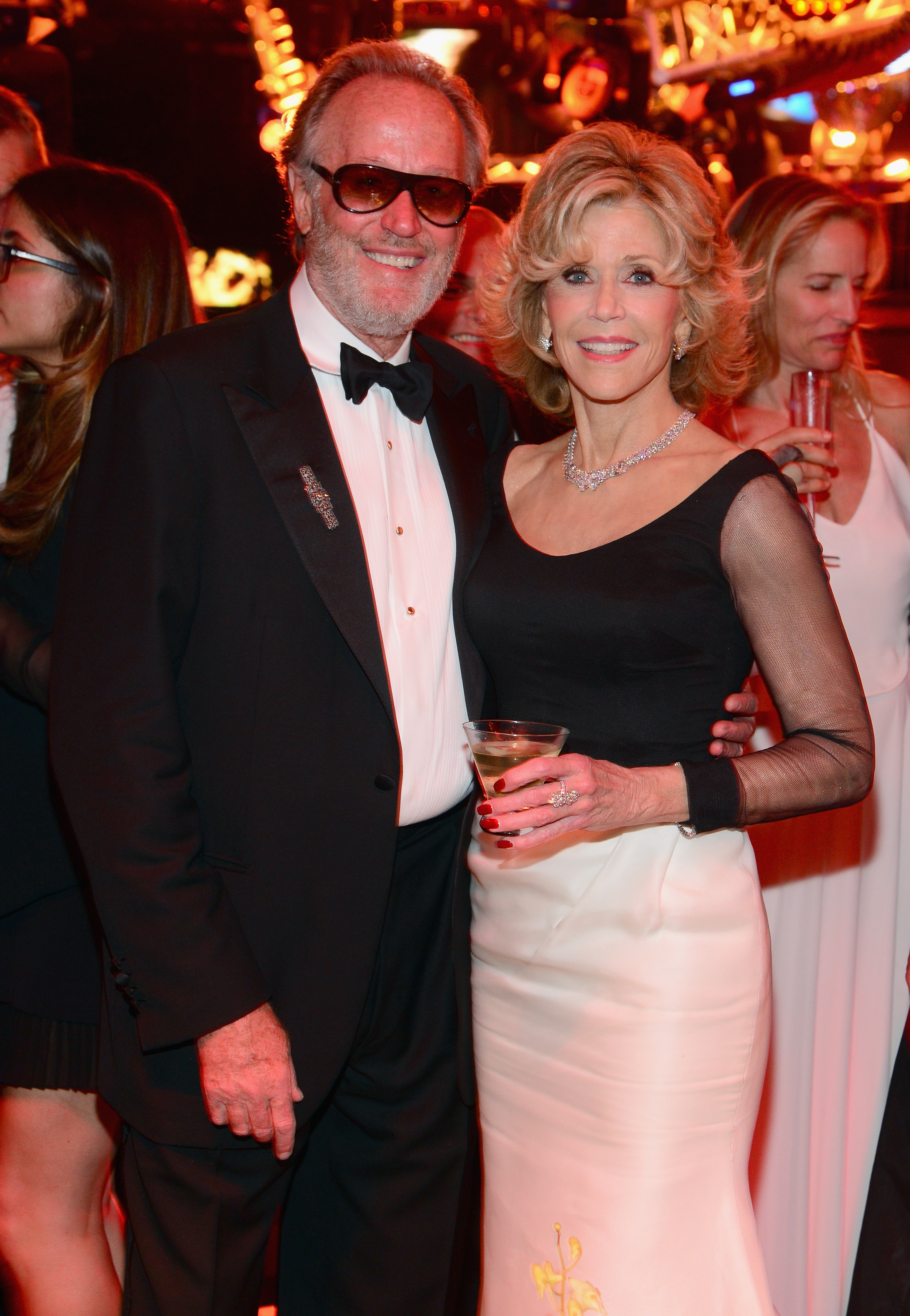 Peter Fonda poses with his sister, Jane, who was honored Thursday by the American Film Institute in Hollywood.