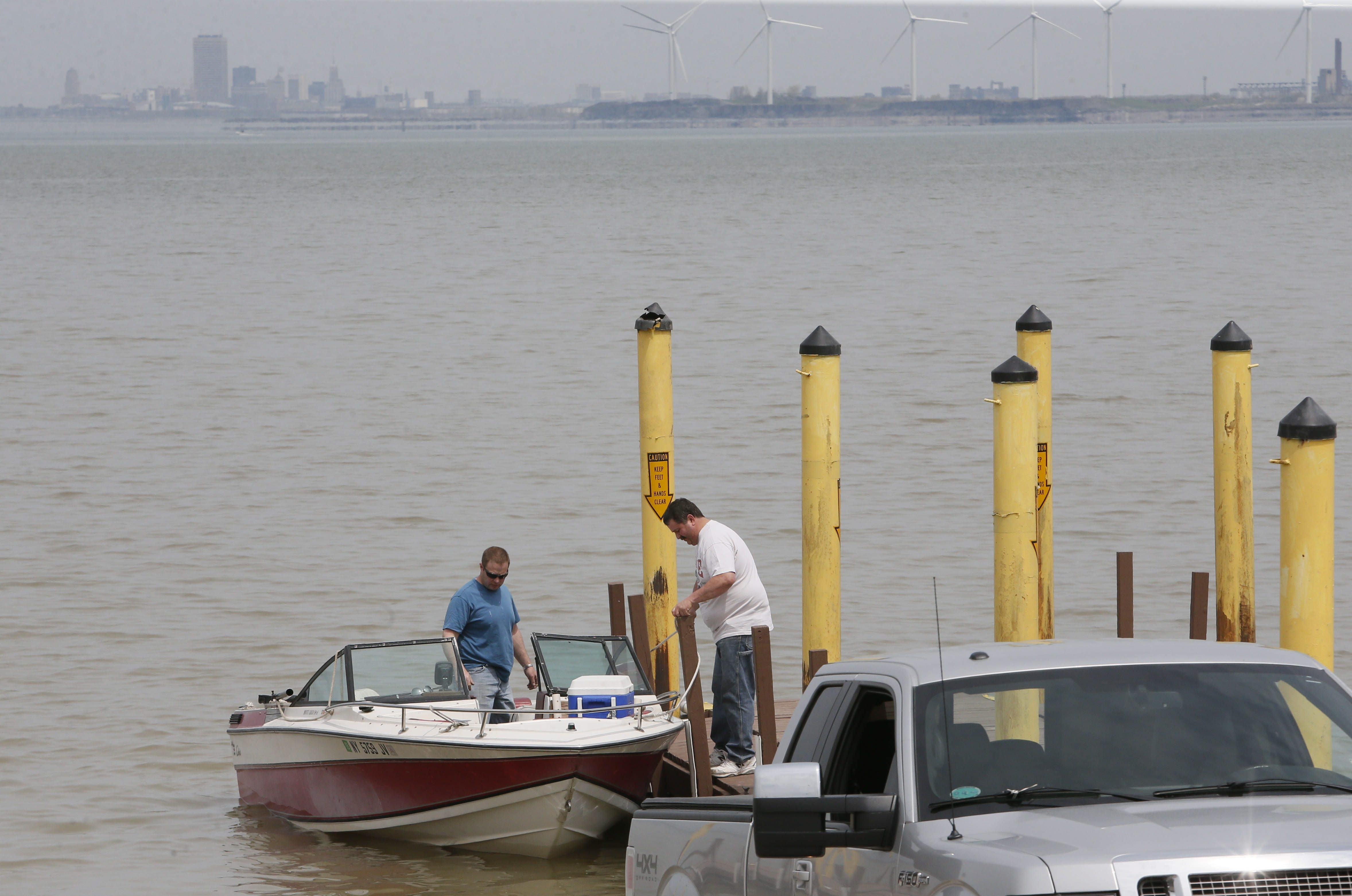 Fishermen prepare to head out into Lake Erie at the Hamburg Town Park in this file photo. (Derek Gee/Buffalo News)