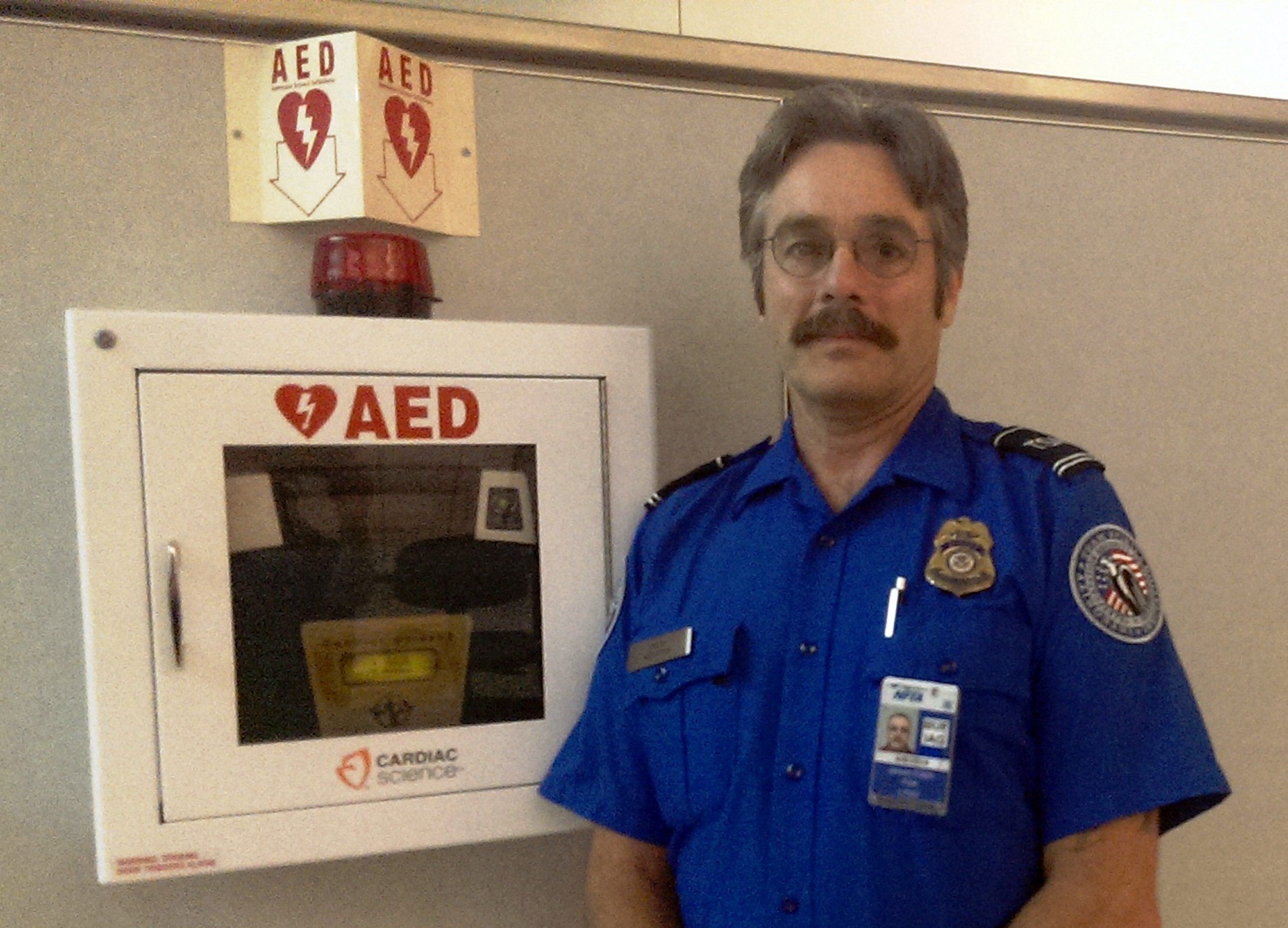 Jim Dolph, the lead TSA officer at the Buffalo airport, saved a passenger by using a defibrillator.