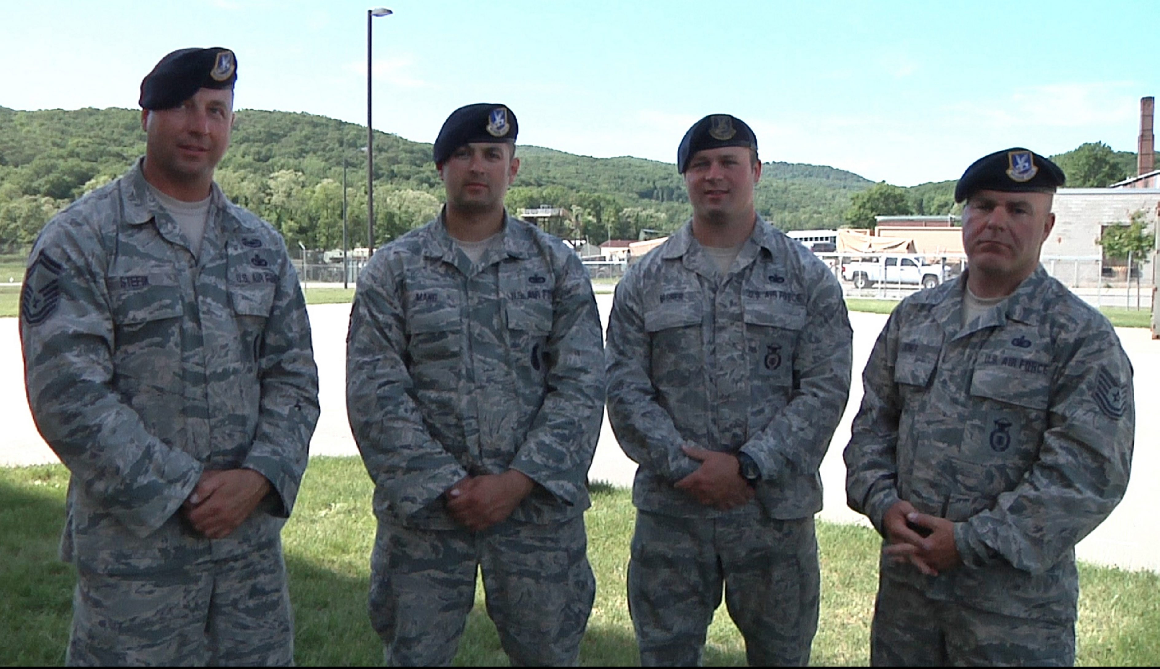 Winners of the annual New York National Guard shooting match from the 107th Airlift Wing are, from left, Senior Master Sgt. Edward Stefik, Sgt. Ryan Mang, Staff Sgt. Johnathen Wagner and Tech Sgt. Warren Jones.