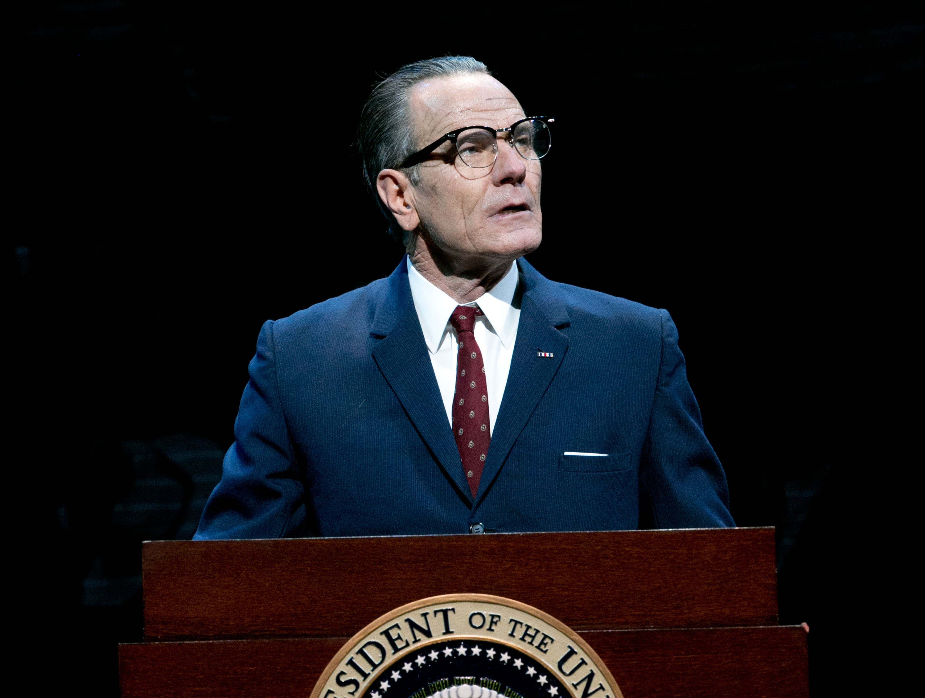 """Bryan Cranston portrays President Lyndon B. Johnson during a performance of """"All the Way."""" The production has earned back its $3.9 million costs."""
