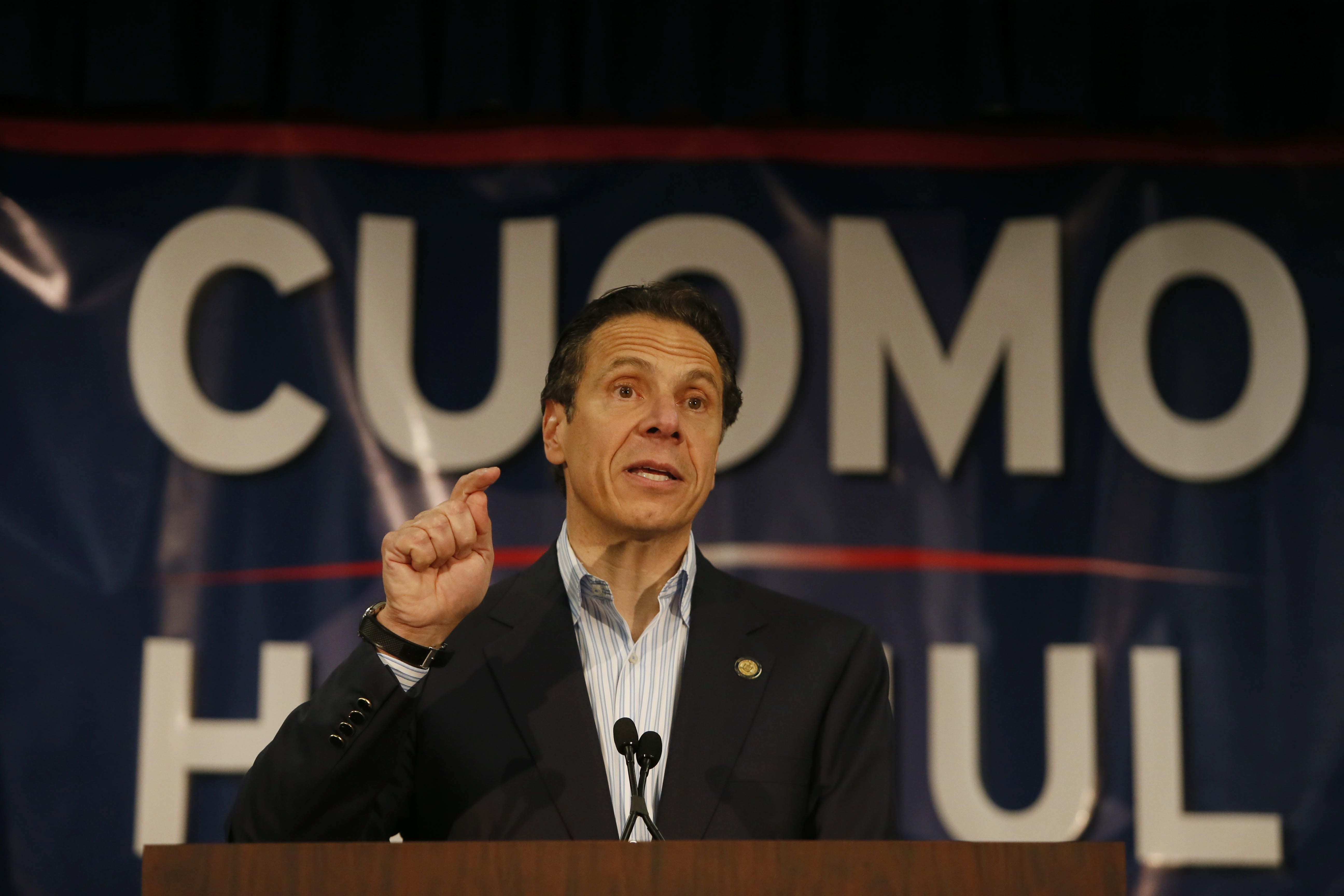 New York Gov. Andrew M. Cuomo, intent on getting the endorsement of the Working Families Party, said he will do all he can this fall to oust the Republicans and the band of five independent Democrats that control the state Senate. (Buffalo News file photo)