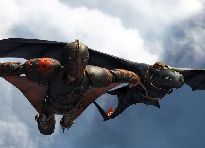 "Hiccup and Toothless fly high in ""How To Train Your Dragon 2."""
