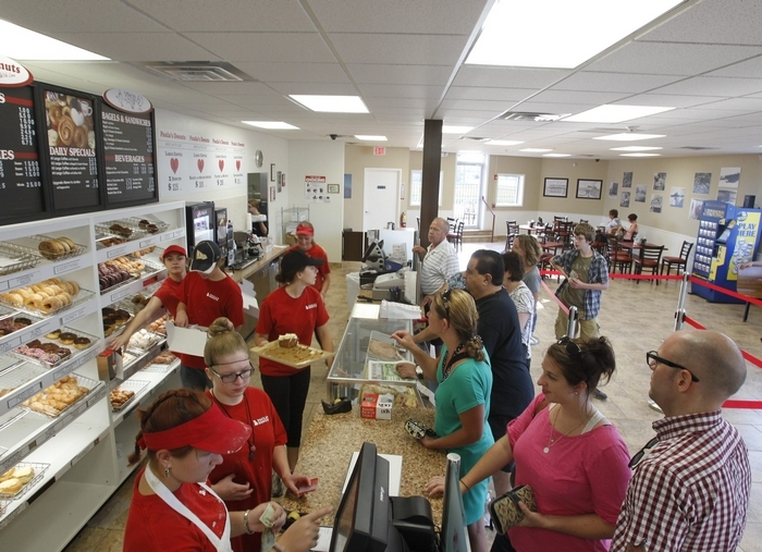 The Paula's Donuts on Sheridan Drive that opened last summer will serve as a model for the new store. (Harry Scull Jr./Buffalo News)