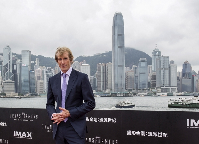 """Director Michael Bay arrives at the worldwide premiere screening of """"Transformers: Age of Extinction"""" last week in Hong Kong. (Getty Images)"""