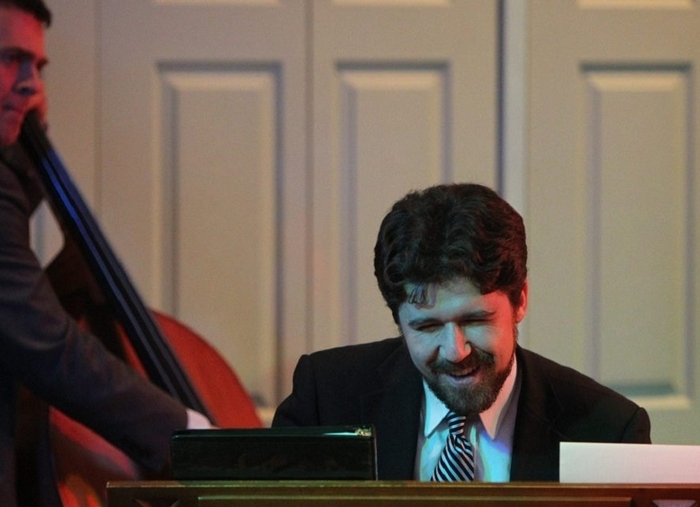 Michael McNeill, pictured here playing the piano at Trinity Episcopal Church in March 2014, will take part in the Buffalo Bach Project. (Mark Mulville/Buffalo News file photo)