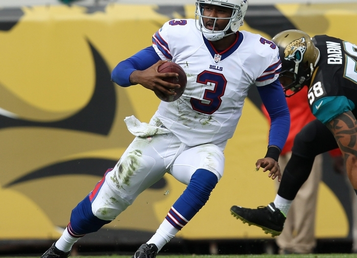 EJ Manuel staying healthy and continuing to mature are two of the if's needed for the Bills to become playoff contenders. (James P. McCoy/Buffalo News)