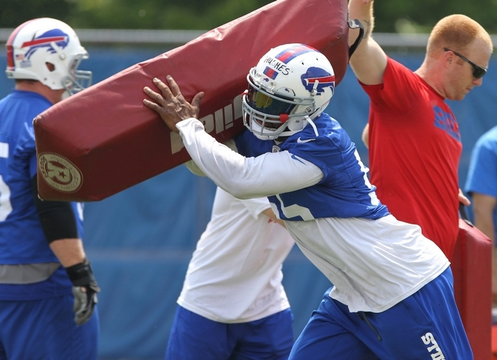 Defensive end Jerry Hughes was arguably the standout performer in the Bills' spring practices. (James P. McCoy/Buffalo News)