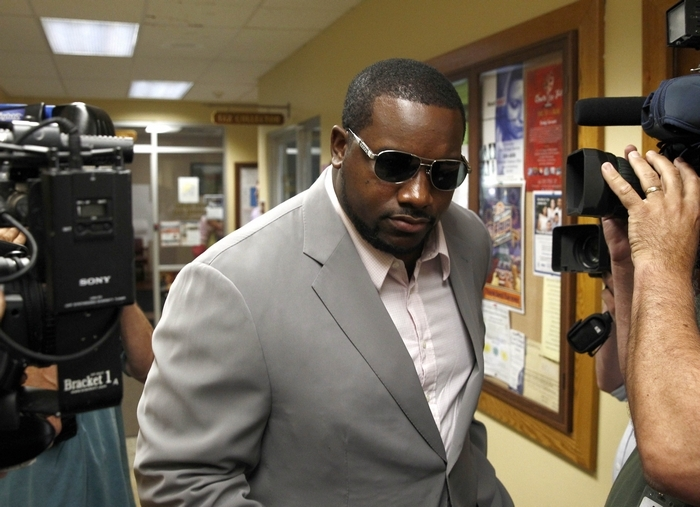 Marcell Dareus arrives in court. (John Hickey/Buffalo News video)