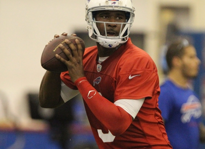 Most eyes will be on EJ Manuel during camp. (James P. McCoy/Buffalo News)