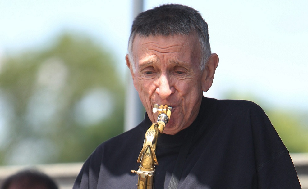 Don Rice, pictured playing in the 2013 Jazz at Albright-Knox series, wowed the crowd with his soothing saxophone. (Sharon Cantillon / Buffalo News file photo)