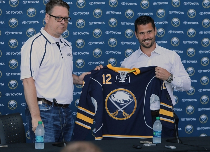 Brian Gionta will be the 19th full-time captain in Sabres history. (Charles Lewis/Buffalo News)