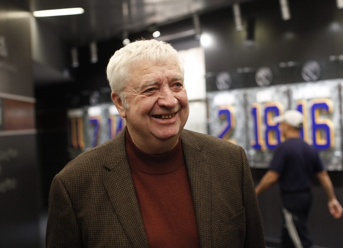 Longtime Buffalo Sabres announcer Rick Jeanneret will undergo radiation therapy for throat cancer. (Derek Gee/Buffalo News file photo)