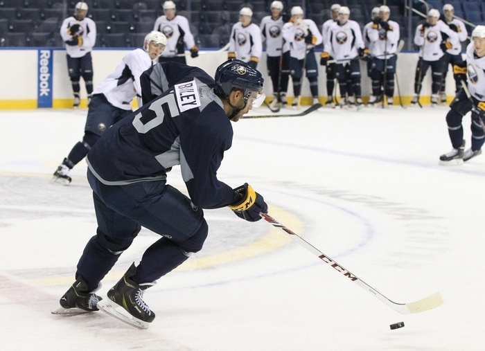 Williamsville native Justin Bailey, drafted in the second round by the Sabres in 2013, has been working out with trainers since his junior hockey season ended in April. (James P. McCoy/Buffalo News)