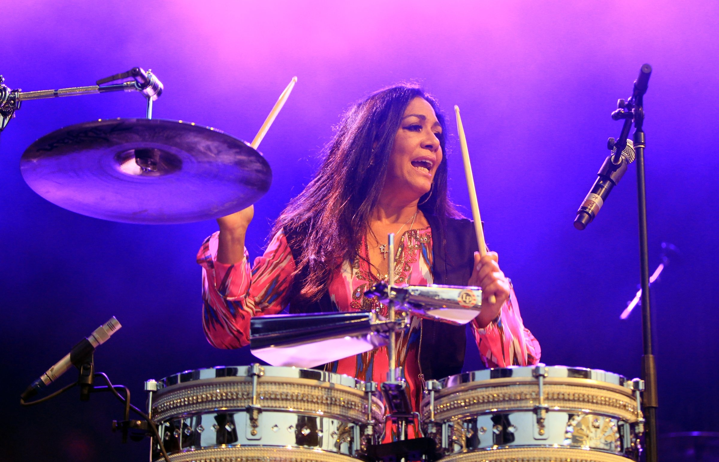 Sheila E performs at Canalside on Thursday, July 31, 2014. (Harry Scull Jr. /Buffalo News)