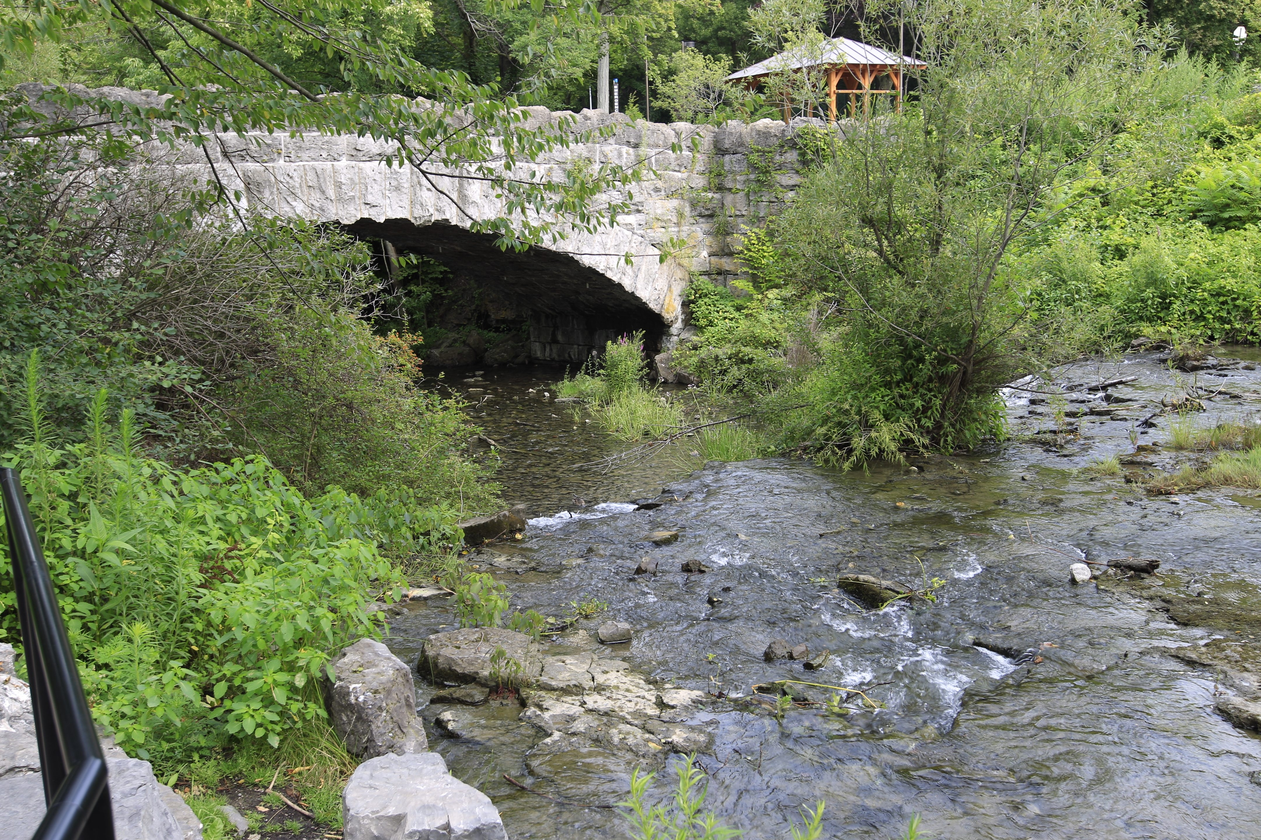 Three Sisters Islands: An old stone bridge links the islands in Niagara Falls State Park, where you can listen to the birds and rolling water.