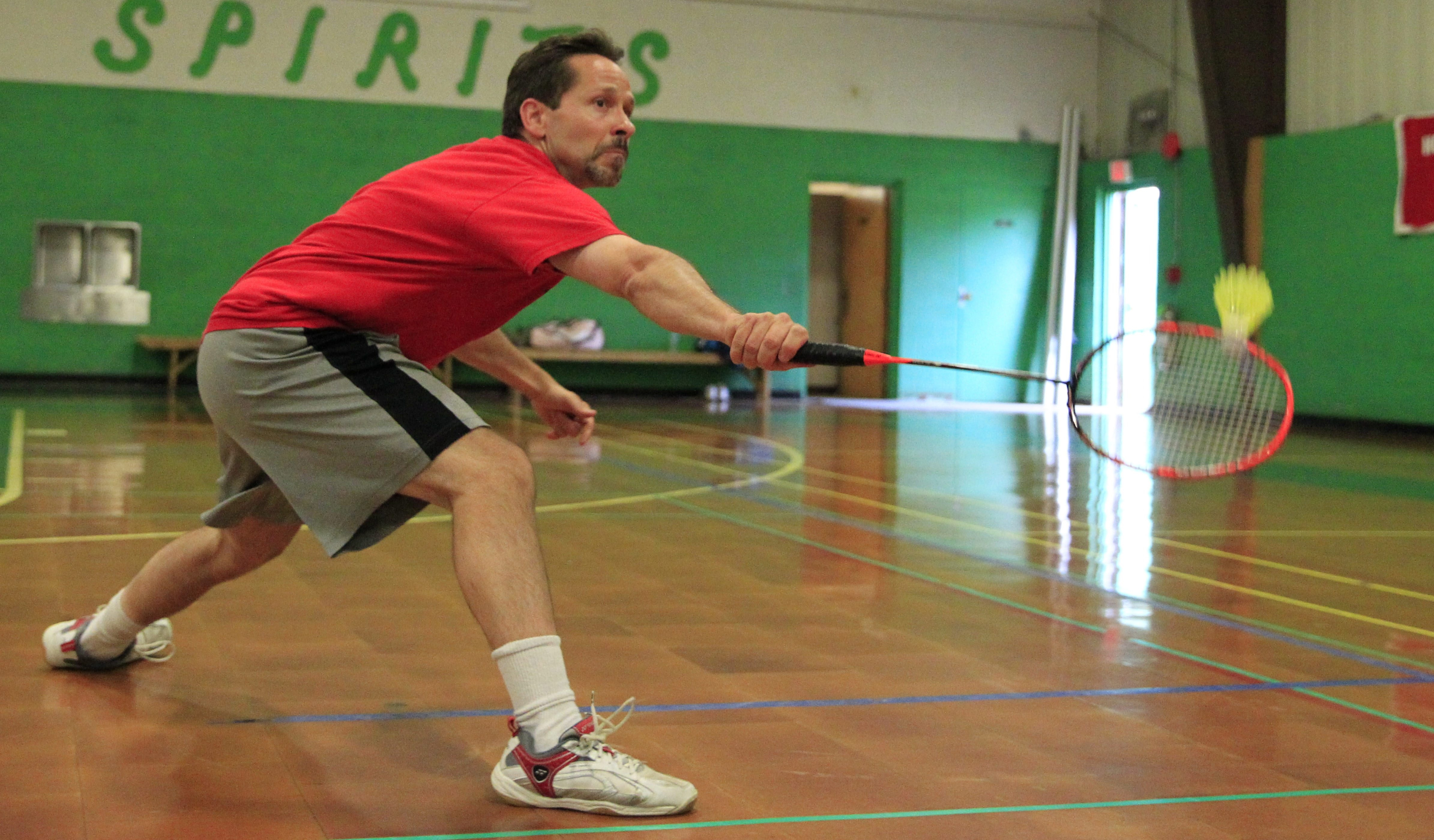 Michael Hacker and his wife, Cara, wanted to share their love of badminton with others so they opened a club at St. Matthews School Gymnasium in North Tonawanda.